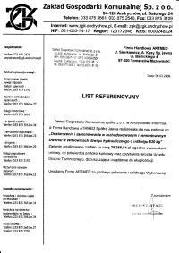Zakład Gospodarki Komunalnej Sp. z o.o. - Andrychów